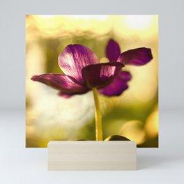 Glowing Purple Flower #decor #buyart #society6 Mini Art Print