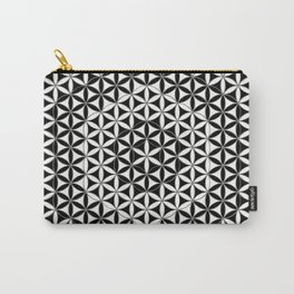 Flower of Life Black White 5 Carry-All Pouch