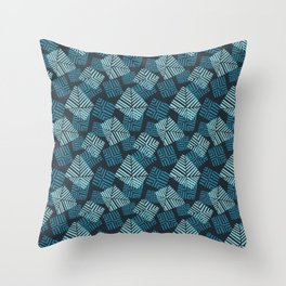 sails in turqs Throw Pillow
