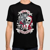Scary Santa Black 2X-LARGE Mens Fitted Tee