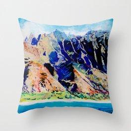 Na Pali Coast Throw Pillow
