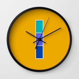 Blue Windows Wall Clock