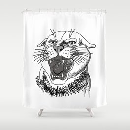 tiger angry growls ( https://society6.com/vickonskey/collection ) . Art Shower Curtain