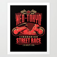 Neo-Tokyo Street Race Champion Art Print