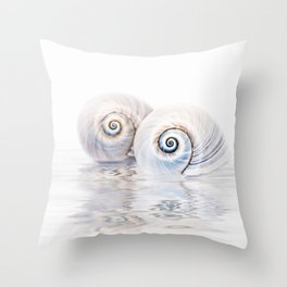 Snail Shells On Water Throw Pillow