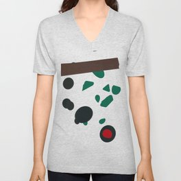 Abstract Shapes Unisex V-Neck