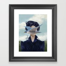 It's a bird ? Framed Art Print