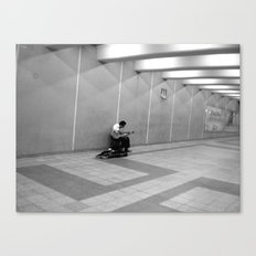 Montreal Busker Canvas Print