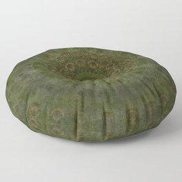 """Autumn mandala"" (Green-Grey Pattern) Floor Pillow"