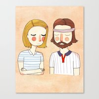 card Canvas Prints featuring Secretly In Love by Nan Lawson
