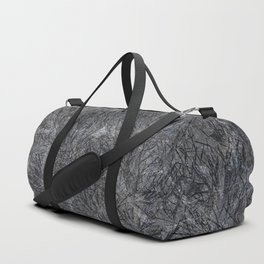 Black Cement and Grass Duffle Bag