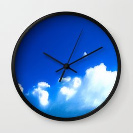 Starship breaking clouds Wall Clock