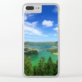 Lakes in Azores Clear iPhone Case