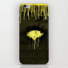 Yellow Drips iPhone Skin