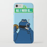 cookie monster iPhone & iPod Cases featuring Cookie Monster by M.REYES