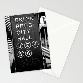 Brooklyn Bridge Subway Sign Stationery Cards