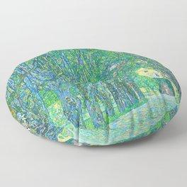 Gustav Klimt - Allee im Park von Schloss Kammer (new editing) Floor Pillow