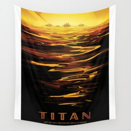 NASA Visions of the Future - Titan: Ride the tides through the throat of Kraken Wall Tapestry