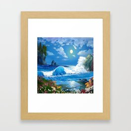 Sea Landspace Framed Art Print