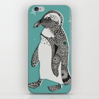 penguin iPhone & iPod Skins featuring Penguin by Rachel Russell