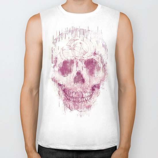 skeleton head Biker Tank