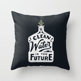 Future Water Throw Pillow