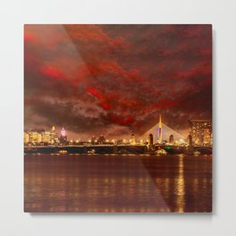 Boston Charles River Bridges Metal Print