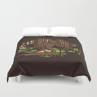 bigfoot Duvet Covers featuring The Bigfoot of Endor by Hoborobo
