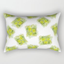 August Peridot Birthstone Series - Watercolor Rectangular Pillow