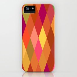 Summer Heat Harlequin Abstract Geometric iPhone Case