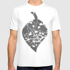 Negative 3 MEDIUM White Mens Fitted Tee