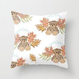Autumn Bears Throw Pillow