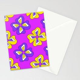 Pop pansy pattern! Stationery Cards