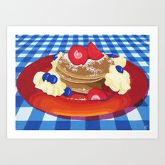 Pancakes Week 10 Art Print