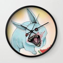Zombie Bunny Wall Clock
