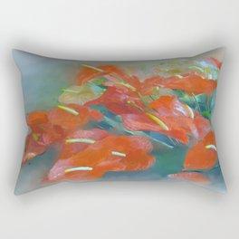 Red Anthurium Rectangular Pillow