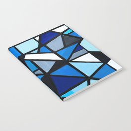 Blue Geometric Notebook