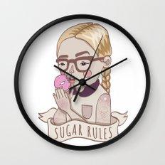 Sugar Rules Wall Clock