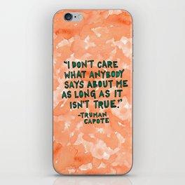 Truman Capote iPhone Skin