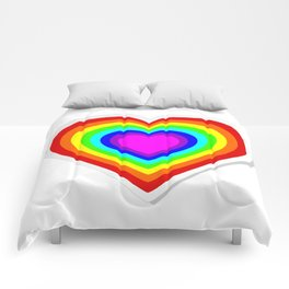 Lbgt rainbow heart Comforters