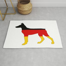 German Flag - Dobermann Pinscher Rug
