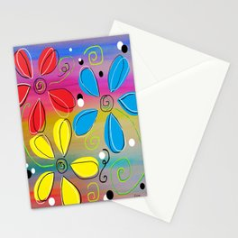 Bright Flowers Intertwined Stationery Cards