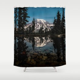 Rainier Reflection 2018 Shower Curtain