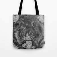 rat Tote Bags featuring Rat by Natasha Maiklem