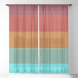 Yoshika - Multicolor Retro Stripes Sheer Curtain