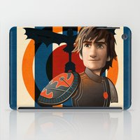 hiccup iPad Cases featuring Train a Dragon by milanova