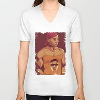 true blood V-neck T-shirts featuring True Blood - Lafayette/Blade by Mike Wrobel
