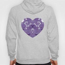 paisley vine in deep purple Hoody