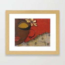Chocolate Sassy Girl Framed Art Print