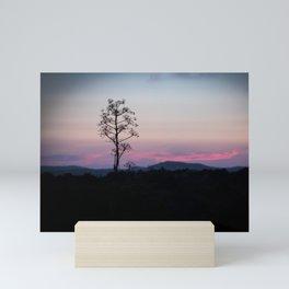 Minimal of a Sunset in Sardinia Mini Art Print
